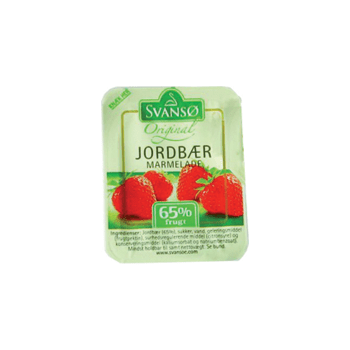 Jordbærmarmelade Portion Svansø 20gr