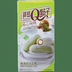Green Tea Bean Mochi Roll