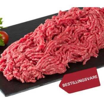 Oksekød Hakket 10-12%  Ca.2,5kg Pk