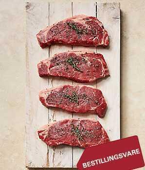 Okse Steaks Sirloin 120gr > 10 Stk.