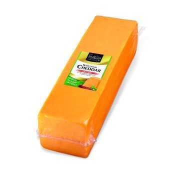 Cheddar Farvet Ca.2,5kg Blok