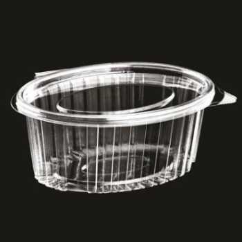 Salatbakke M/hængslet Låg 500ml Oval