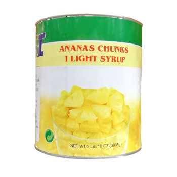 Ananas 1/8 Stykker Light Sirup