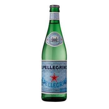 San Pellegrino Med Brus Glas