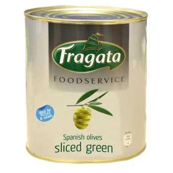 Oliven Grønne I Skiver