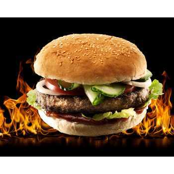 Burger Flammegrillet 90 G