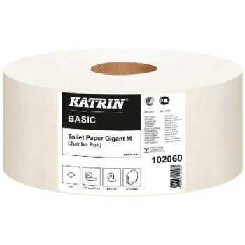 """Toiletpapir Katrin Basic 1-lag """"M"""" 435m."""