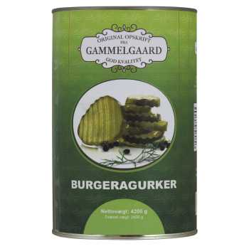Burgeragurkesalat Gammelgaard