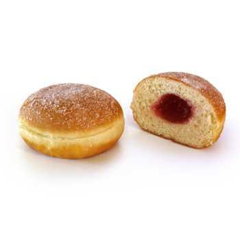 Berliner M/Hindbær & Sukker