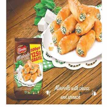 Börek Minirulle M/ost & Spinat 28-30stk