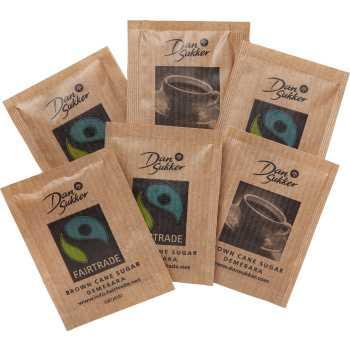 Rørsukker Potionsposer Fairtrade 4gr.
