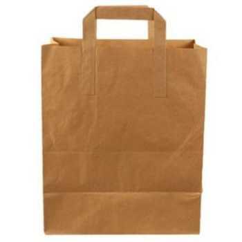 Bærepose Papir Brun M/hank 15 L