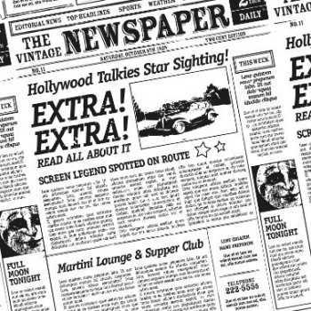 Burgerpapir 30x30cm  Old News M/ PE.