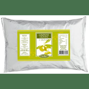 Oliven Grønne I Skiver, Pose, Veribest
