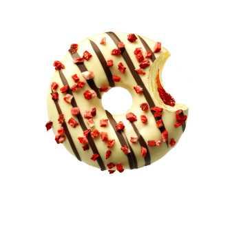 Donut M/jordbær Marmelade
