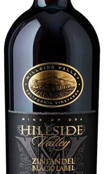 Rødvin Hillside Valley Zinfan. Black USA
